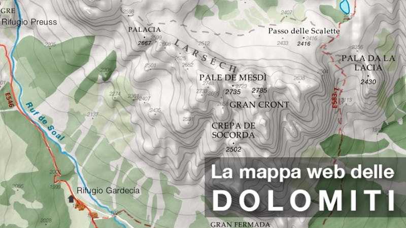 Cartina Dolomiti Pdf.La Mappa Escursionistica Web Delle Dolomiti In Crowdfunding Su Eppela