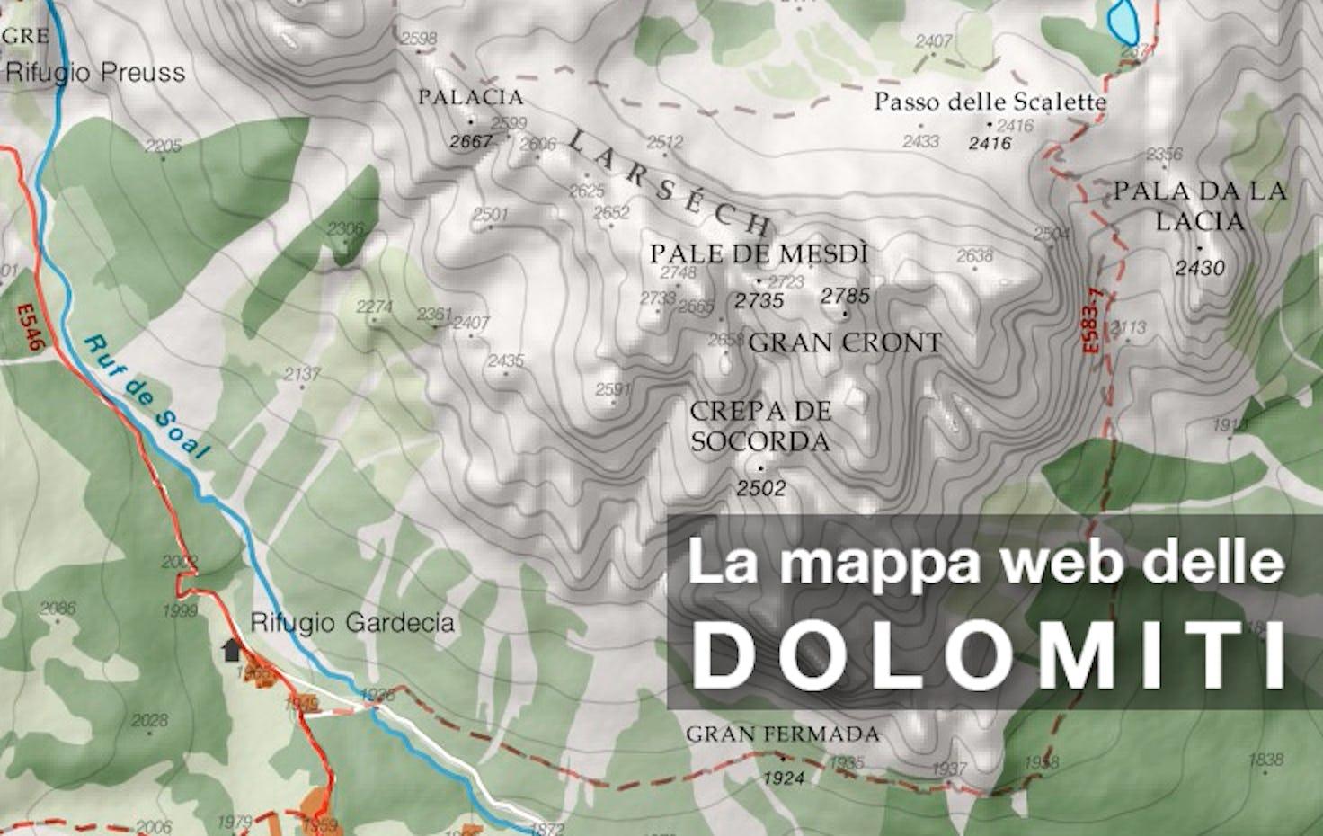 Cartina Dolomiti Italia.La Mappa Escursionistica Web Delle Dolomiti In Crowdfunding Su Eppela