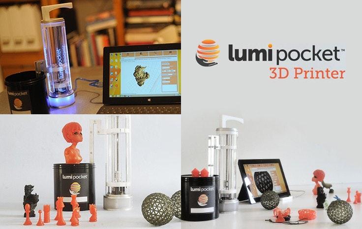 LumiPocket, stampante 3d innovativa
