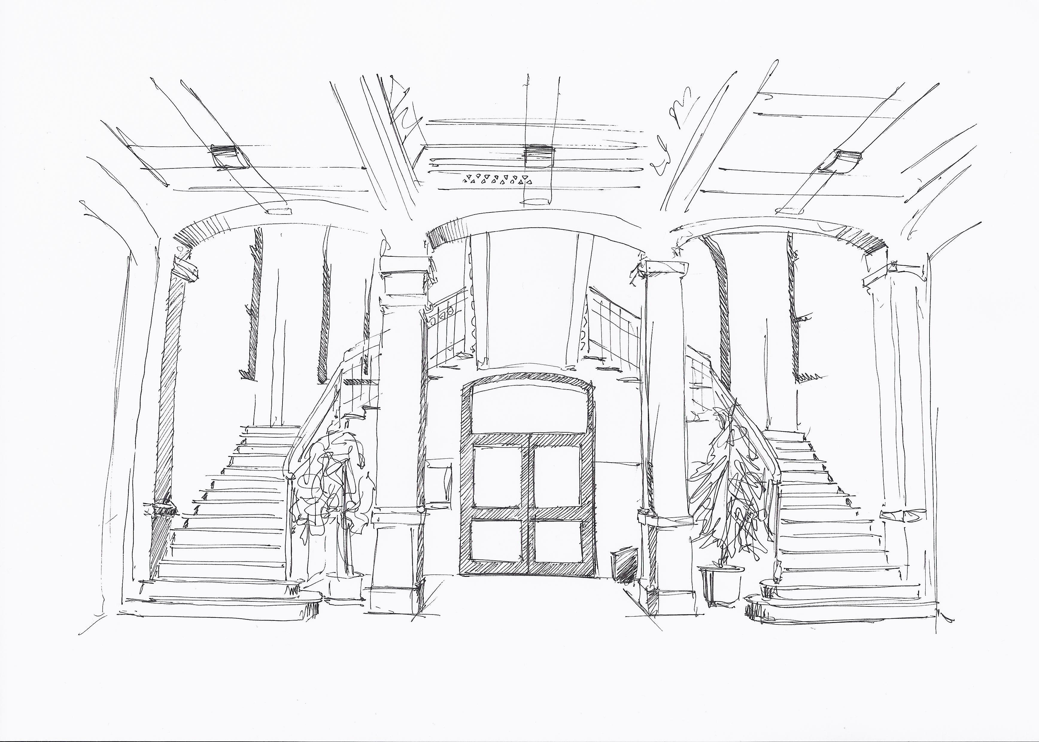 1491846258958445 disegno a china della scalinata scuola