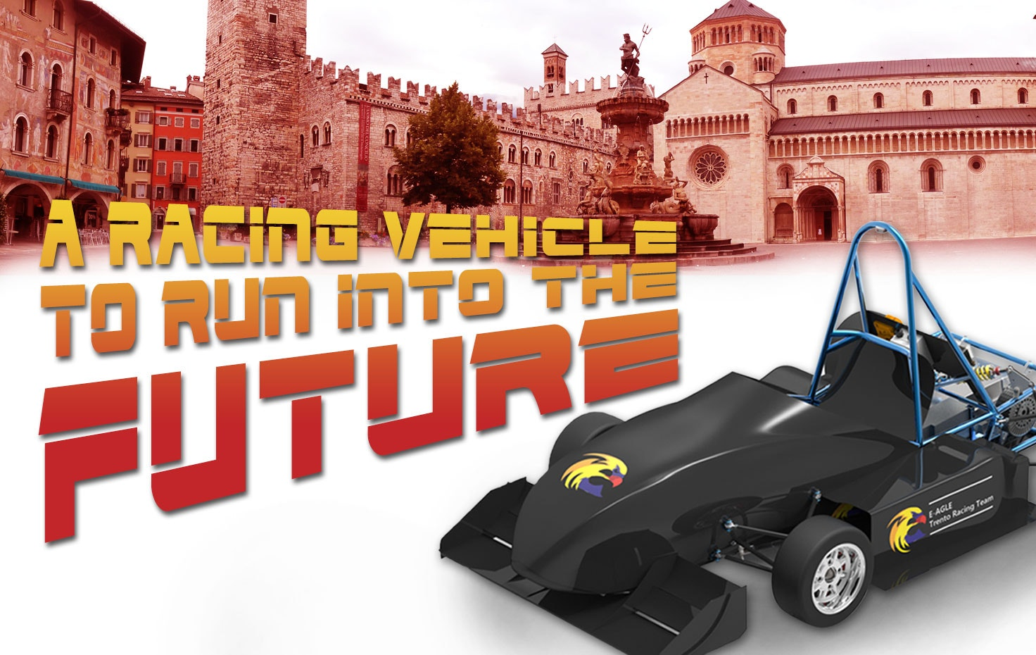 A racing vehicle to run into the future
