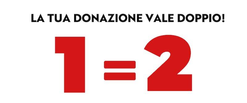 1557130436774736 la donazione vale doppio
