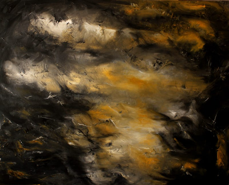 1563012339002422 hurricane 80x100cm olio su tavola