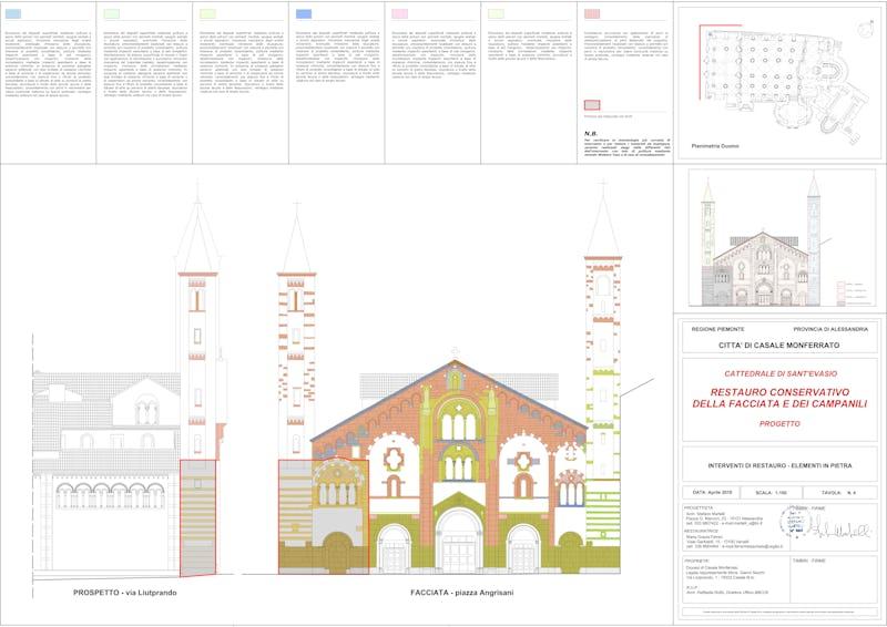 1573208382286336 facciata s evasio tavola n.4 restauro elementi in pietra
